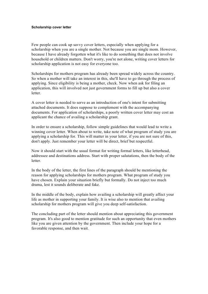 Beautiful Idea Scholarship Cover Letter 9 Recent College Graduate ...