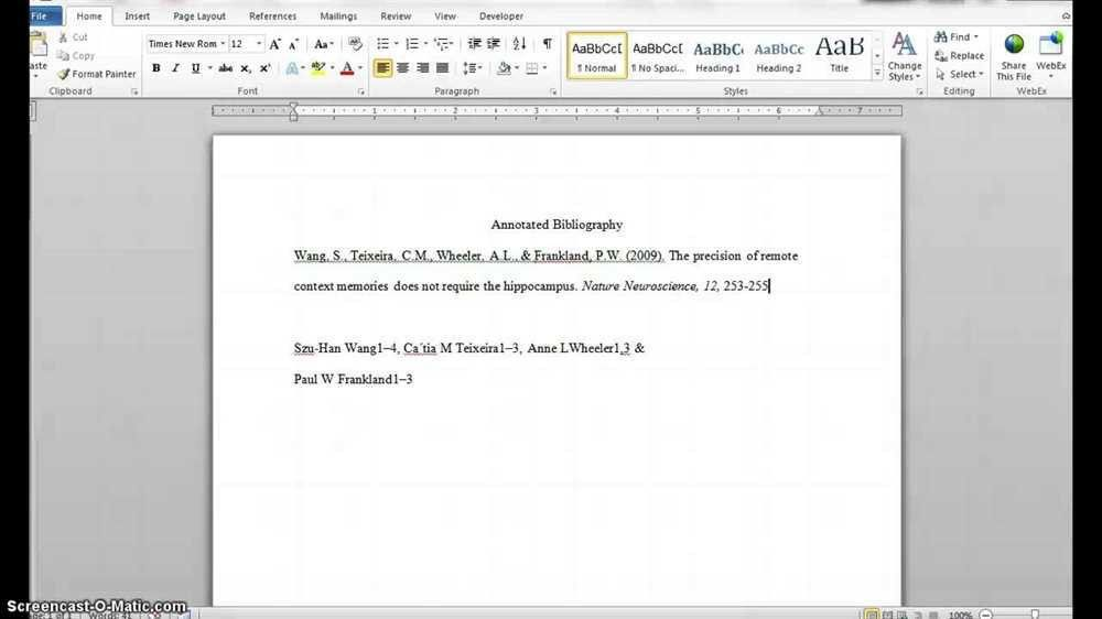 Annotated bibliography ama format