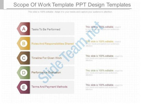 Pptx Scope Of Work Template Ppt Design Templates | PowerPoint ...
