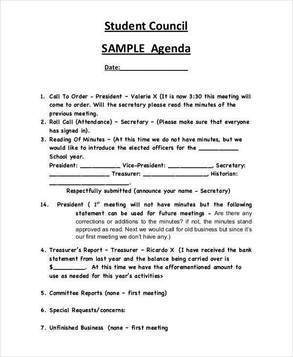 30+ Free Agenda Examples