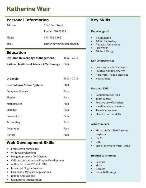 create my resume for me
