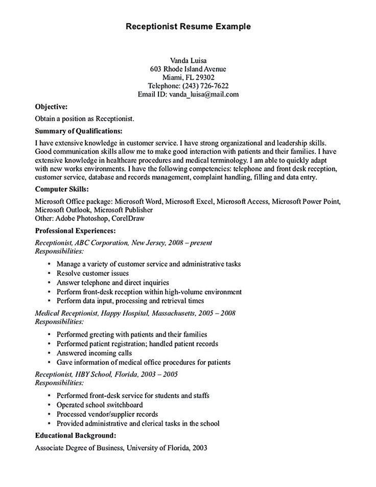8 best Resume Samples images on Pinterest | Clocks, Resume ...