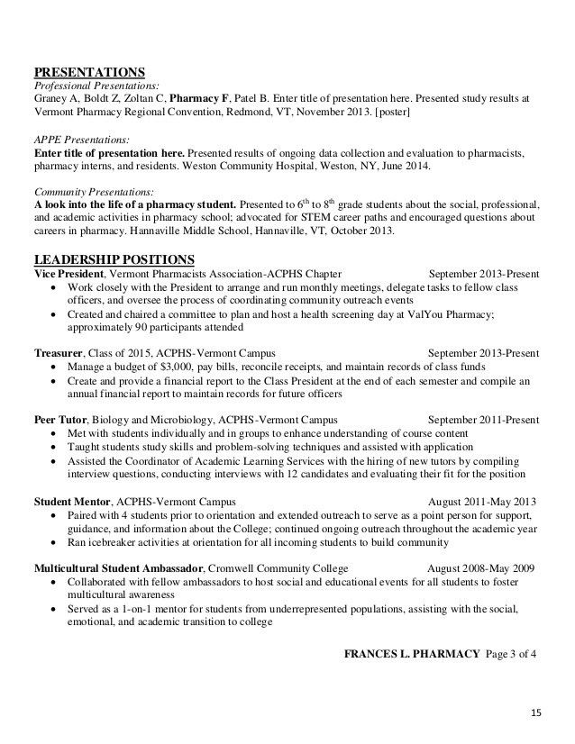 ACPHS Resume and CV Guide