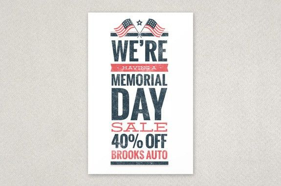 Memorial Day Sale Flyer Template - An eye-catching flyer design ...