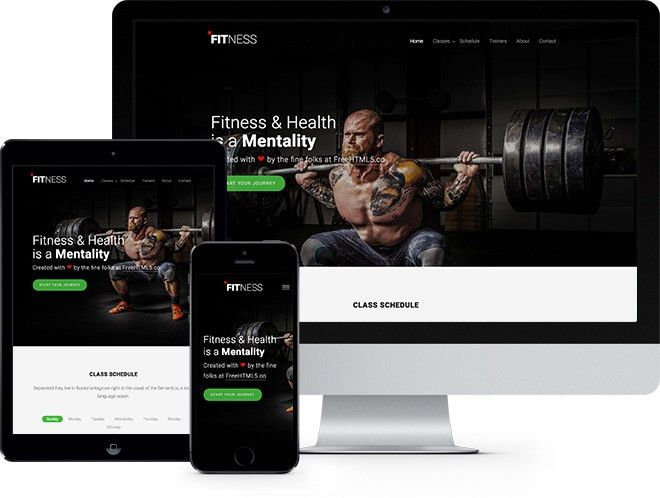 Fitness Free Website Template Using Bootstrap 3 - FreeHTML5.co