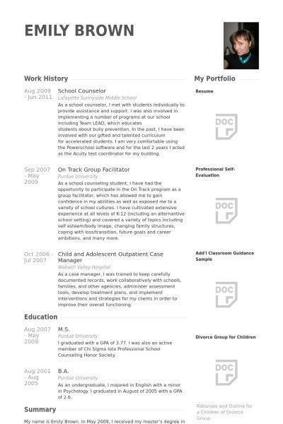 choose. sample resume for counselor financial aid counselor resume ...