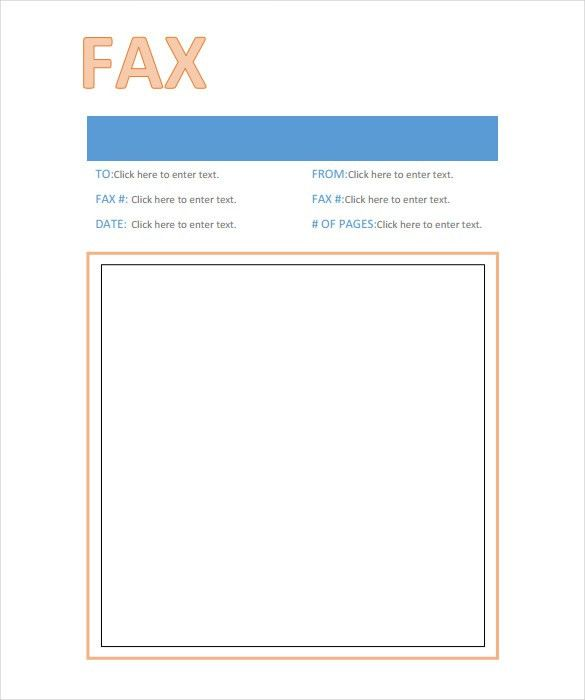 example of fax cover letter