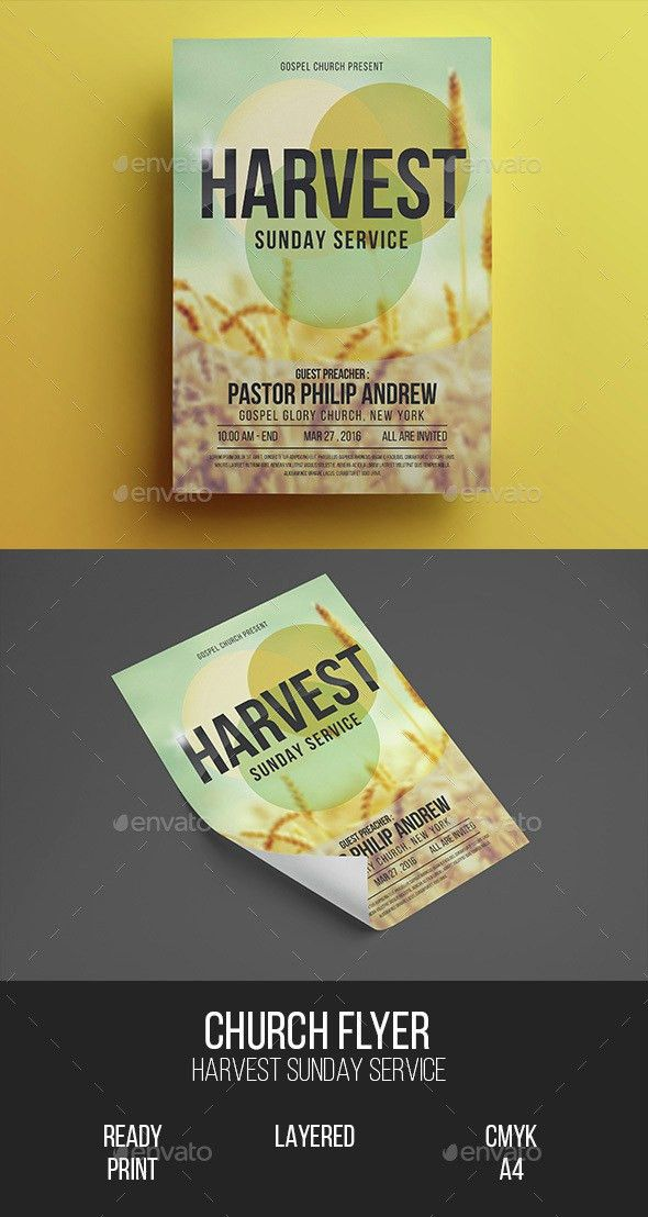 Church Gospel Flyer   Psd flyer templates, Postcard design and ...
