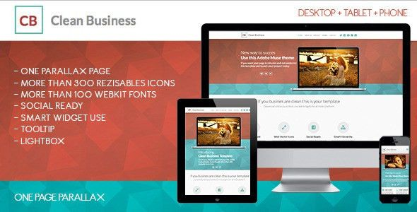 Clean Business One | Adobe Muse Template by zacomic | ThemeForest