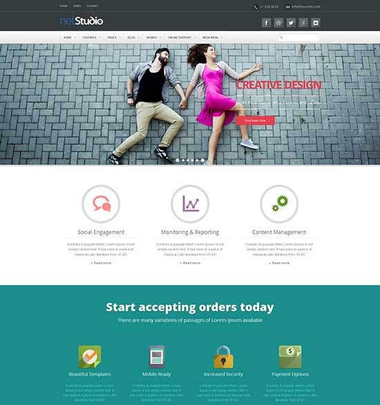 50+ Best Flat Design Website Templates Free & Premium - freshDesignweb