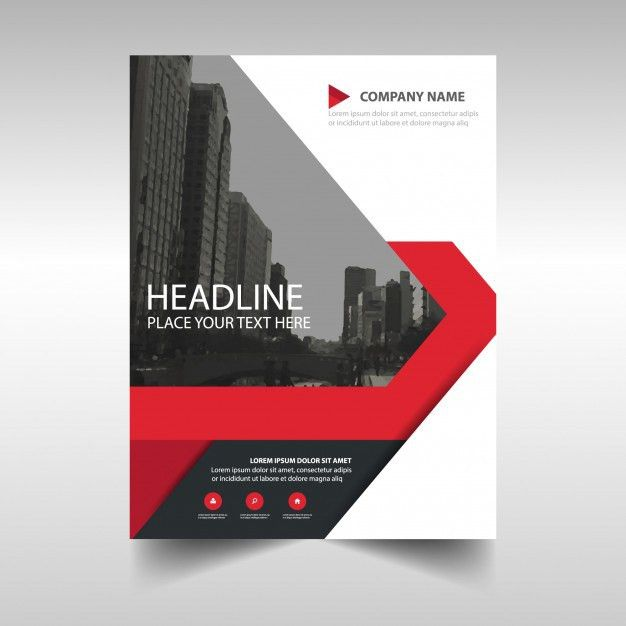 Red creative annual report template Vector | Free Download