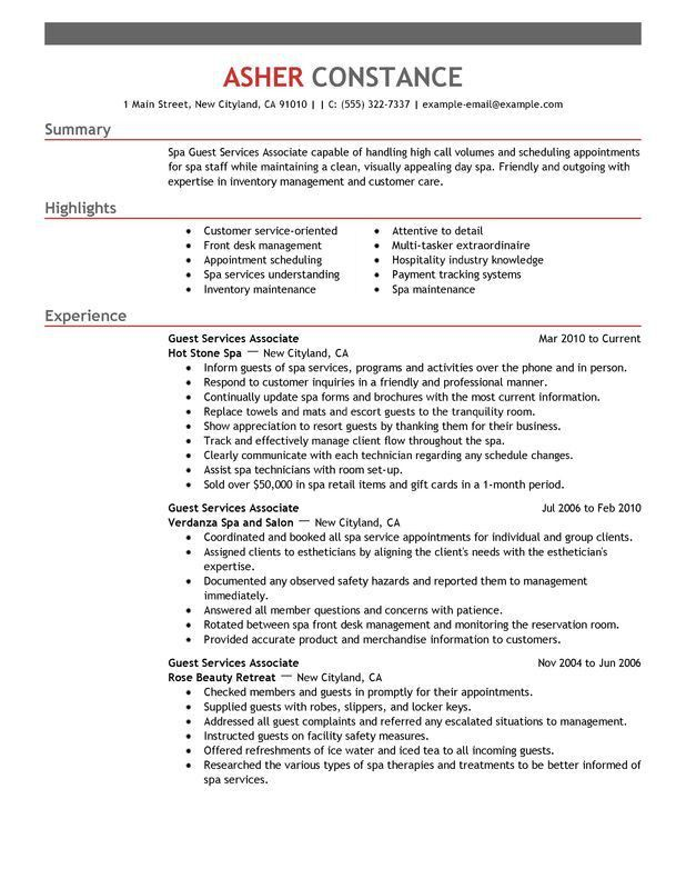 Unforgettable Guest Service Associate Resume Examples to Stand Out ...