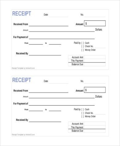 Sample Payment Receipt Form - 8+ Free documents in Doc, PDF
