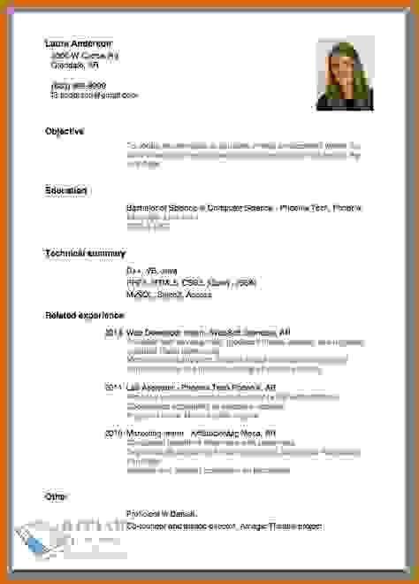 Make Resume Format. Format To Make Resume | Resume Format ...