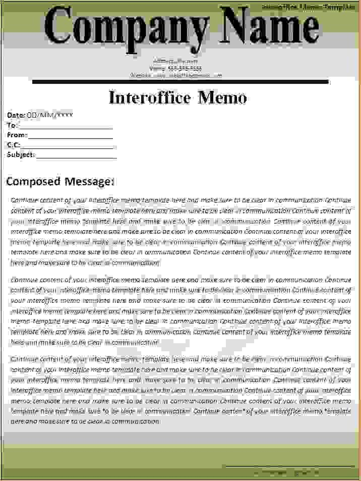 6+ interoffice memo templateReport Template Document | report template