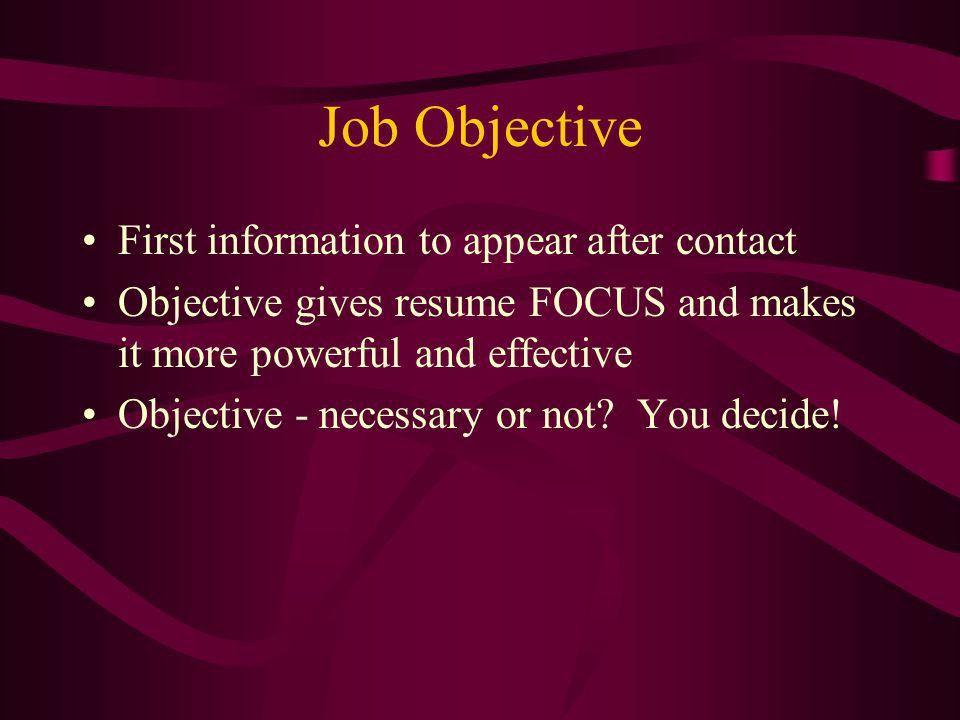 Is An Objective Necessary On A Resume [Nfgaccountability.com ]