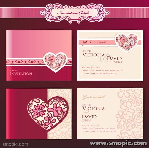 Dream Angels wedding invitation card cover background design ...