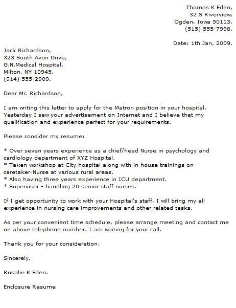 Medical Cover Letter Examples - Cover Letter Now
