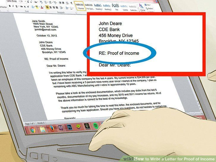 proof of income