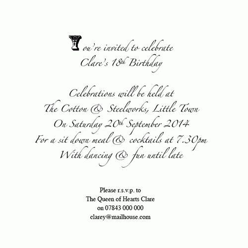 Whimsical Alice in Wonderland themed Invitations for weddings ...