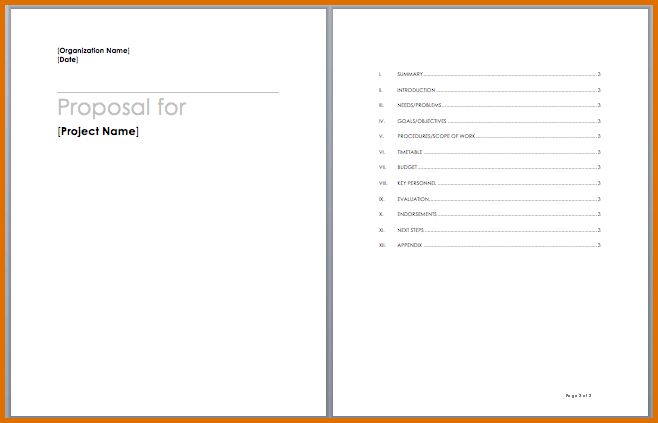 project proposal template wordReference Letters Words   Reference ...
