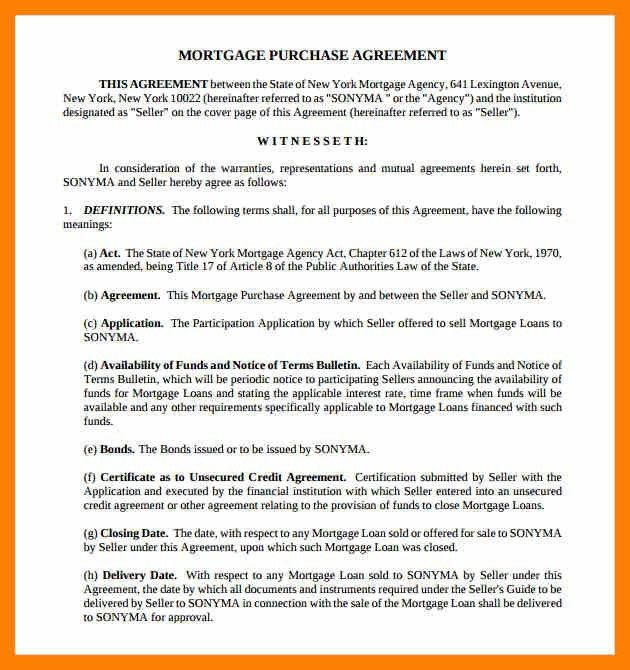 8+ mortgage agreement template | attendance sheet