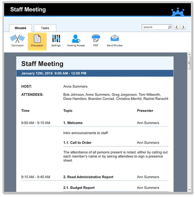 Staff Meeting Agenda Templates