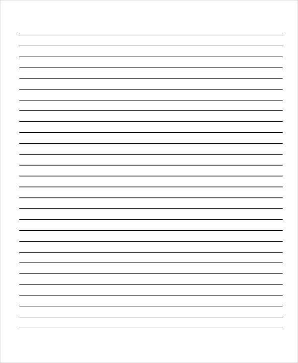 10 Lined Paper Templates - Free Sample, Example, Format Download ...