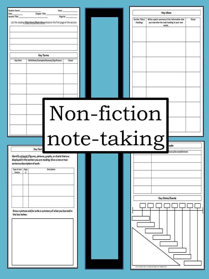 free printable Cornell Notes Graphic Organizer | ... comic note ...