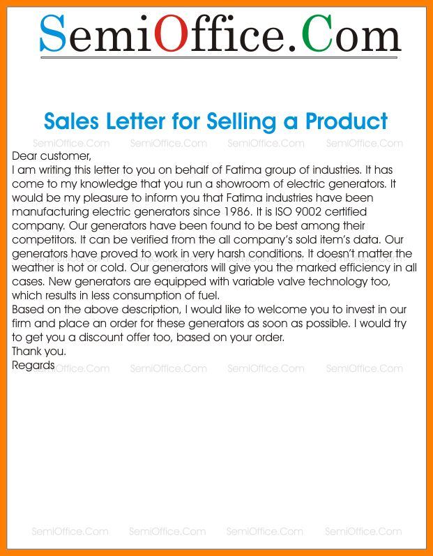 9+ example of sales letter selling a product | farmer resume