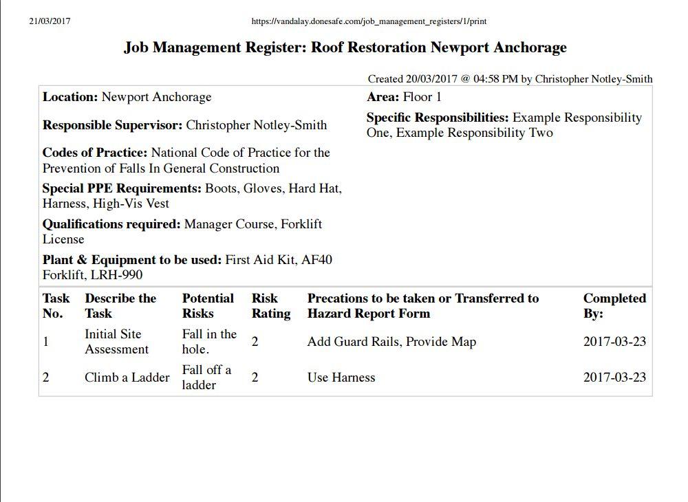 Update! New Job Management Module for SWMS, JSEA, JSA | Donesafe