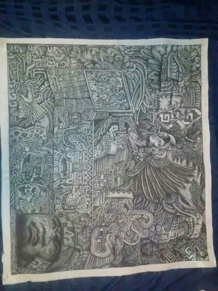 1000 images about raza azteca on pinterest chicano art for Aztec mural tattoos
