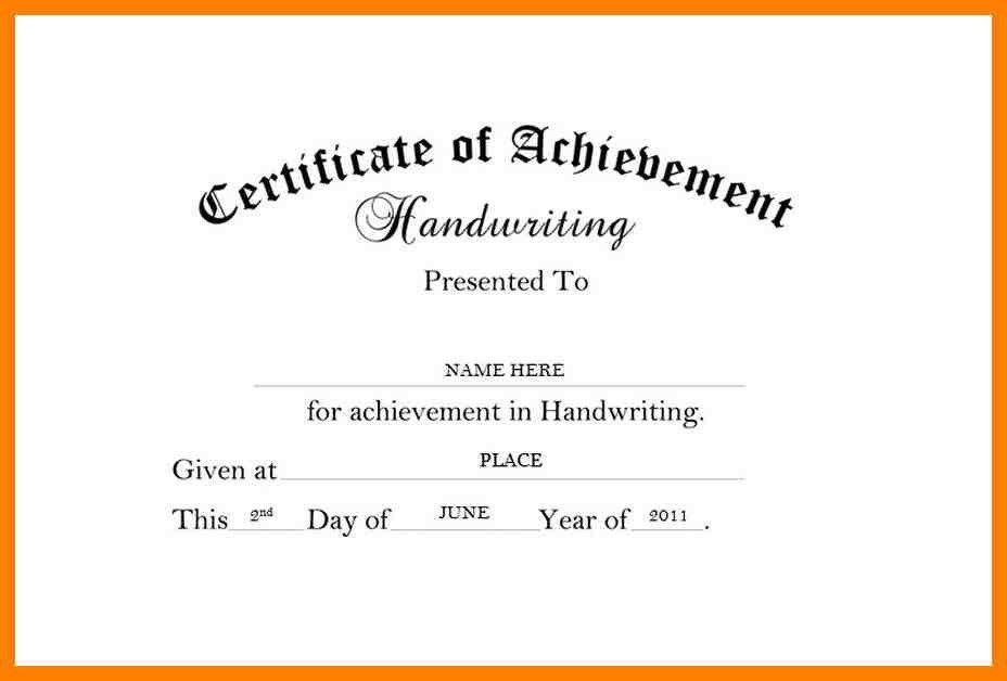 5+ certificate of achievement wording | fancy-resume