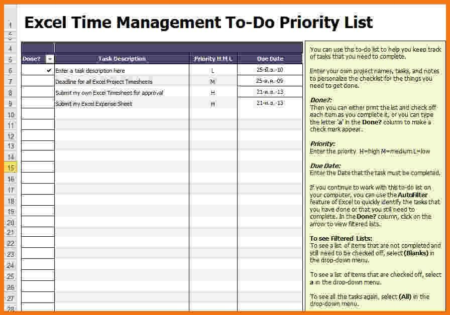7+ excel to do list template | Itinerary Template Sample