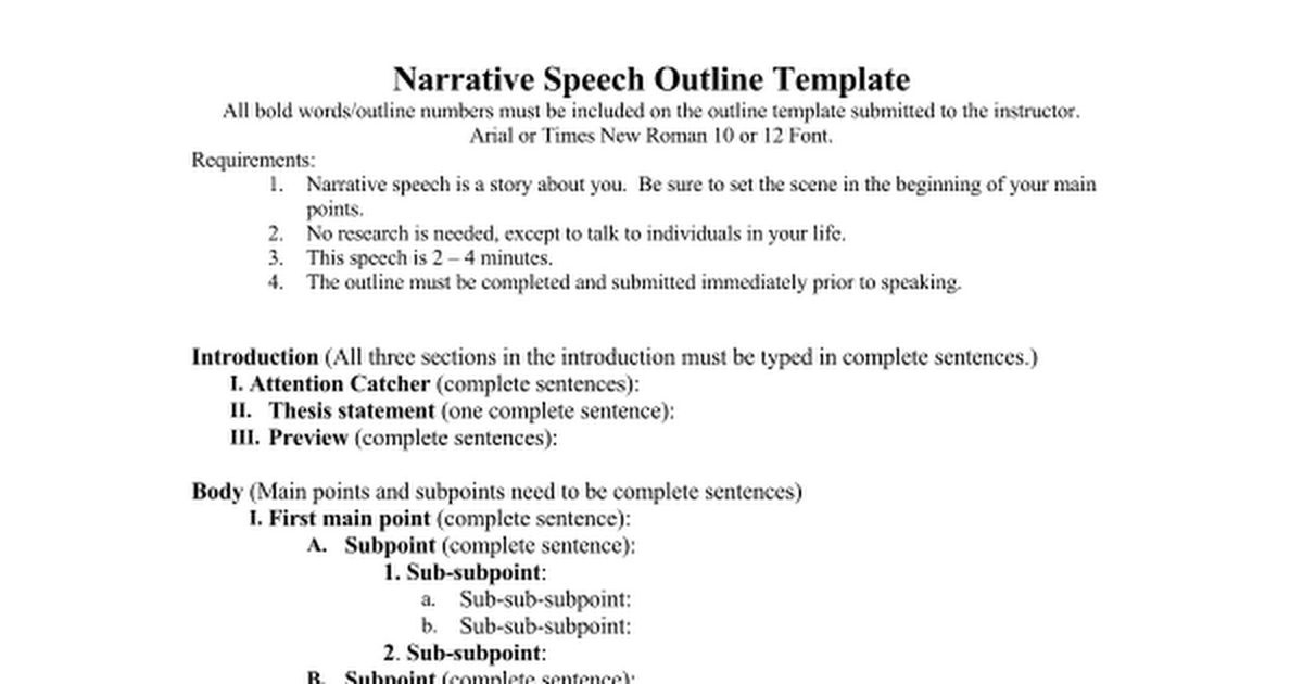 Narrative Speech outline.doc - Google Docs