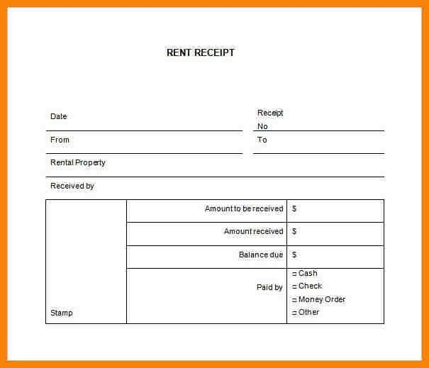8+ rent receipt template free | hr cover letter
