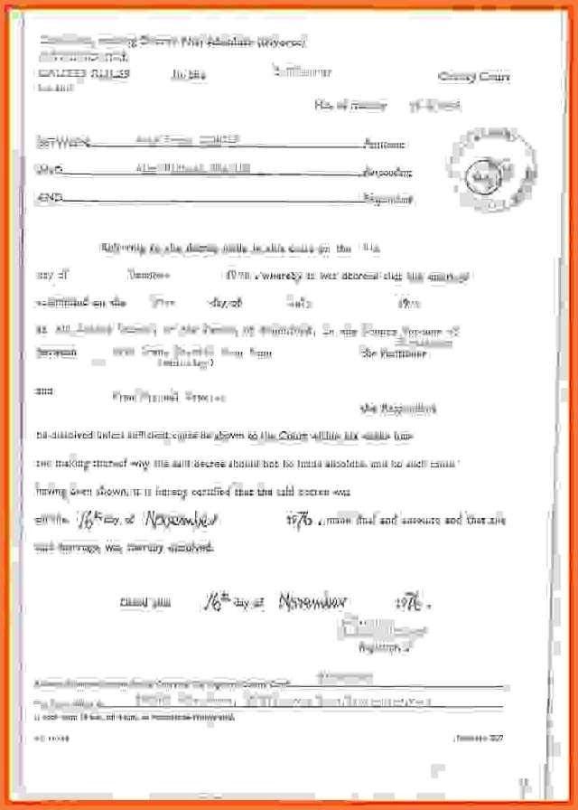 fake divorce papers | bio letter sample