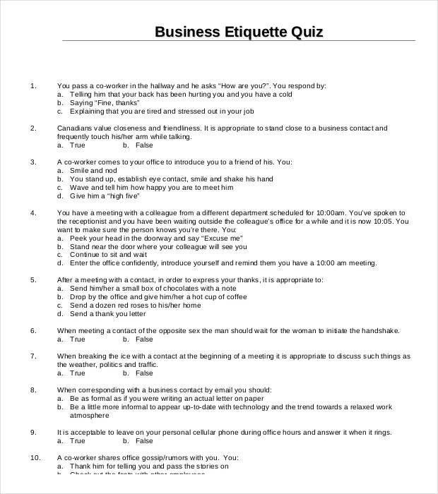 5 Best Free Business Quiz Templates | Free & Premium Templates
