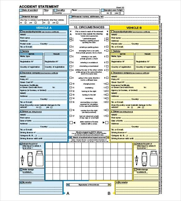 11+ Accident Report Templates - Free Sample, Example, Format ...