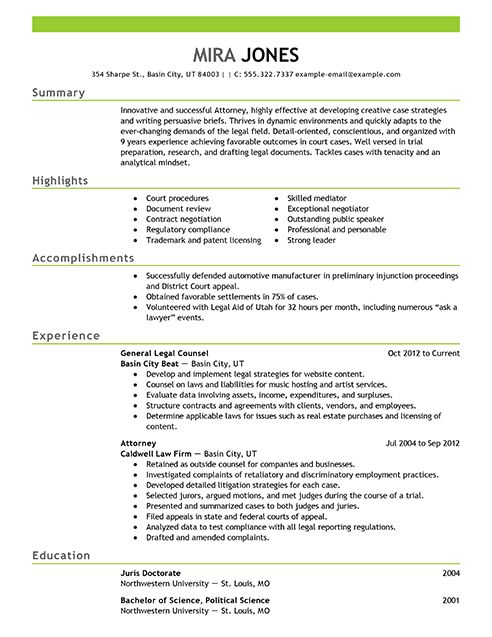 9 Best Images About Best Legal Resume Templates Samples On Free ...