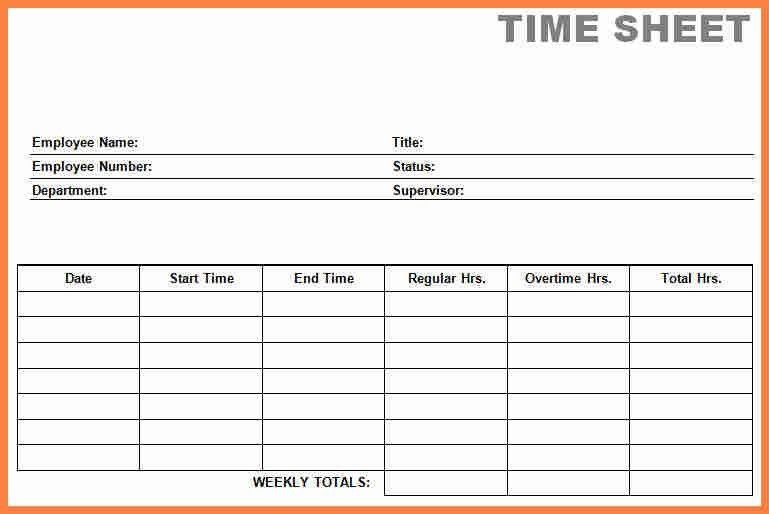 4+ free time card template | Invoice Example 2017