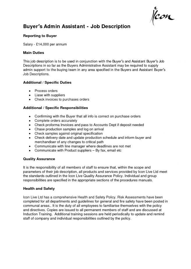 6 Executive Assistant Job Description Sample Job Duties executive ...