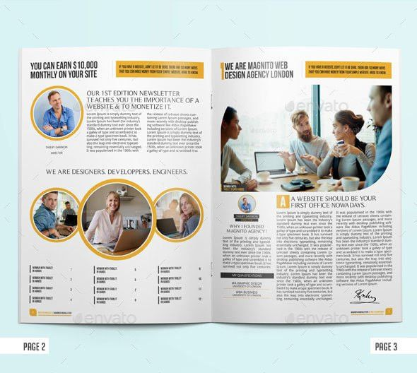 Newsletter Indesign Vol1 by BloganKids | GraphicRiver