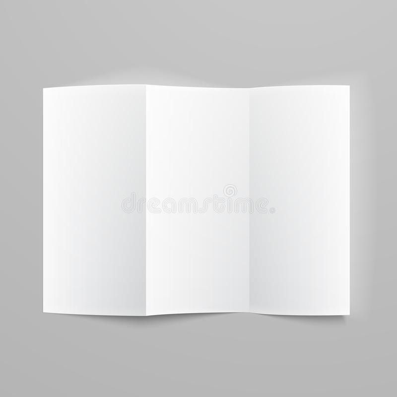 Blank Trifold Paper Z-folded Brochure. Stock Photography - Image ...