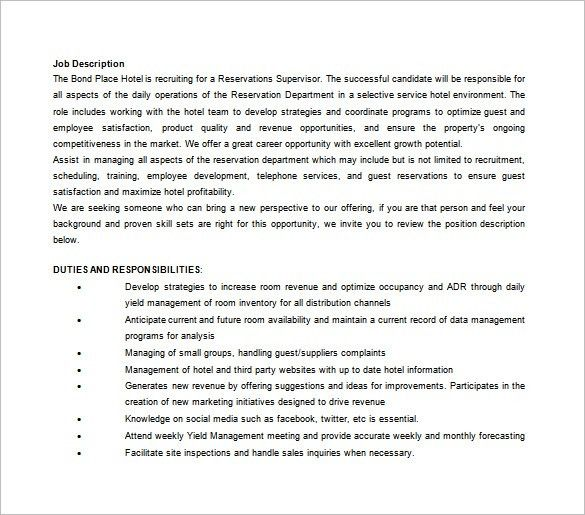 10+ Assistant Manager Job Description Templates – Free Sample ...