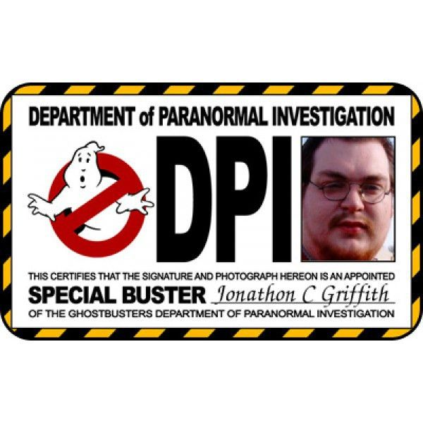 Ghostbusters ID Badge template From ID Card Maker Online