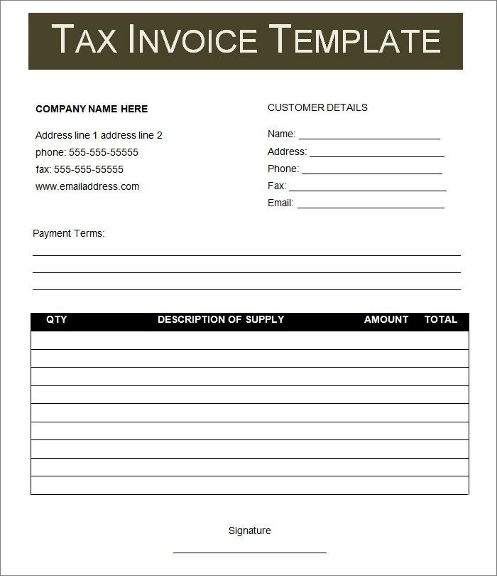 Free Invoice Template - Invoice Templates | Free & Premium Templates