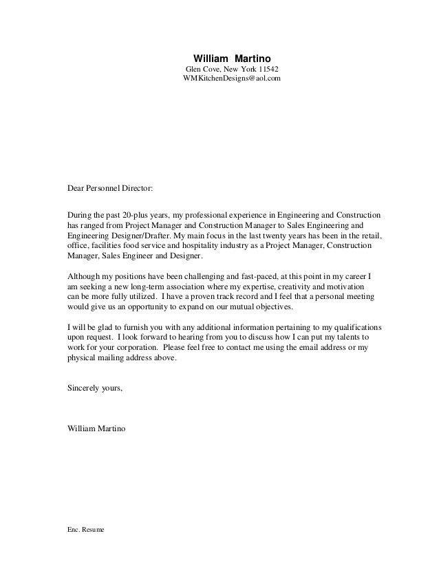 W Martino - Cover Letter - Resume - 2-2017
