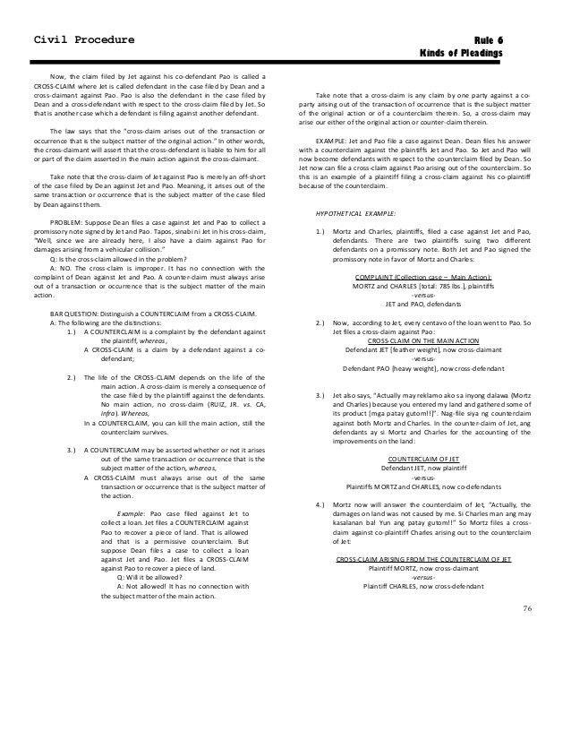 238019494 rule-06-kinds-of-pleadings