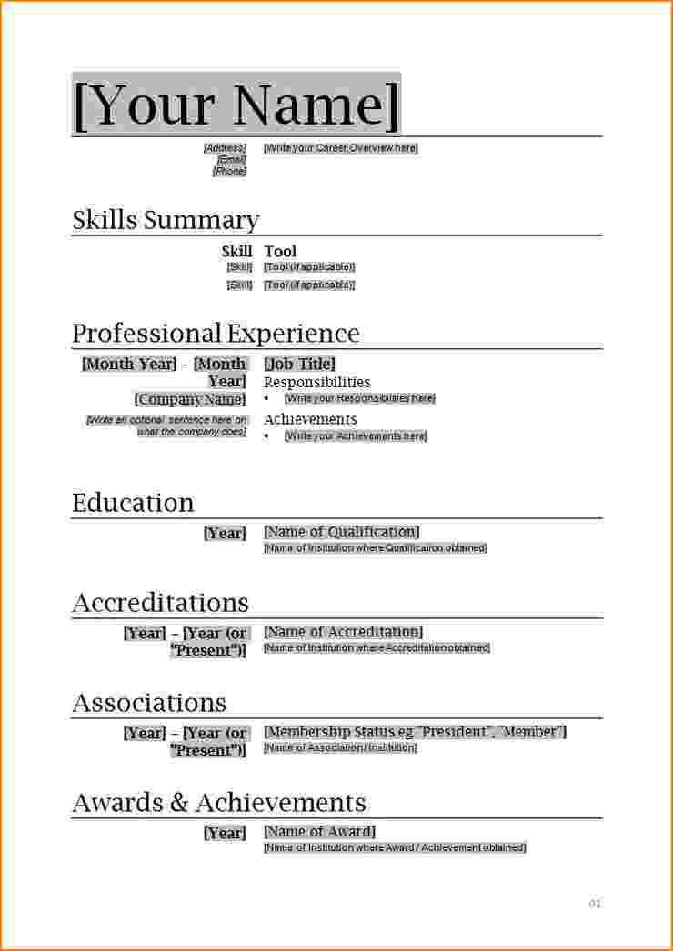 Resume Templates Microsoft Word. Resume // Minimal 2 Theme ...
